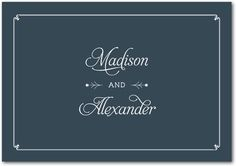 Signature Custom Thank You Cards Classy Motif Front: Slate $179 for 100