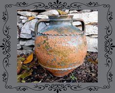 Grote Clay Jar Vintage aardewerk grote vaas steengoed door HoReMag