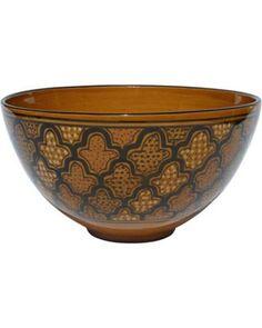 Show off your salads with this unique salad bowl! Get it here: http://www.bhg.com/shop/lamps-plus-le-souk-ceramique-honey-design-deep-salad-pasta-bowl-p50b8d460e4b0fbc06ecb7d40.html?mz=a