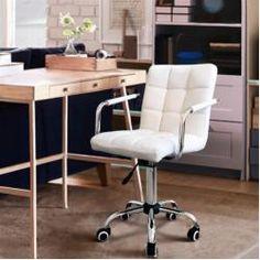 White Desk Chair No Wheels, Vintage Office Chair, Best Office Chair, Office Chair Without Wheels, Executive Office Chairs, Swivel Office Chair, Home Office Chairs, Cheap Desk Chairs, Ikea Chairs