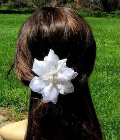 Silk Wedding Hair Flower Comb Silk Bridal Hair Flower Comb Wedding Flower Hair Accessories  Bridal Hair Flower with Freshwater Pearl Centre