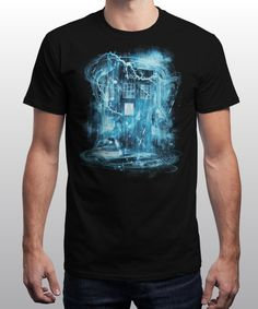 """Time and Space Storm"" is today's £8/€10/$12 tee for 24 hours only on www.Qwertee.com Pin this for a chance to win a FREE TEE this weekend. Follow us on pinterest.com/qwertee for a second! Thanks:)"