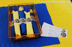 Paper Napkin Ring Printable for the Blue & Gold Banquet