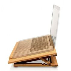 Macally Bamboo Laptop Stand w/ Fan – $29