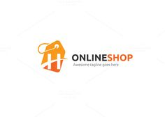 Online Shopping Logo Template | Logo templates, Template and Logos