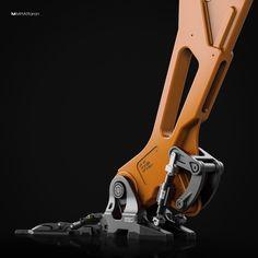 ArtStation - the mechanical foot, Mohammad Hossein Attaran Shape Design, 3d Design, Character Concept, Concept Art, New Kitchen Gadgets, Robot Parts, Robotics Projects, Surface Modeling, Cyberpunk Clothes