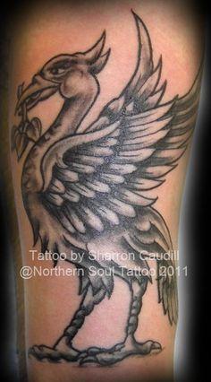 liverbird – Sharron Caudill, Resident Tattoo Artist at Keep The Faith Tattoo, Liverpool Liverbird Tattoo, Ynwa Tattoo, Mark Tattoo, Soul Tattoo, Tattoo Wings, Soccer Tattoos, Football Tattoo, Football Soccer, Liverpool Tattoo