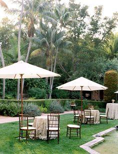 Outdoor Wedding with umbrellas