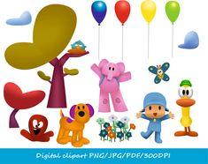 35-YS / Pocoyo Clipart / character clipart / png / jpg  / Pocoyo invitation / Pocoyo Birthday Party / instant download