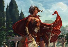 Goddess of War Wonder Woman from Infinite Crisis