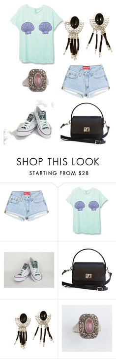 """""""Sem título #1006"""" by leticiahubner ❤ liked on Polyvore featuring Converse"""