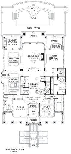 images about House plans on Pinterest   House plans  Floor    First Floor Plan of The Firenze   House Plan Number Dream house  Instead of storage in master bedroom add open book shelves  display shelves