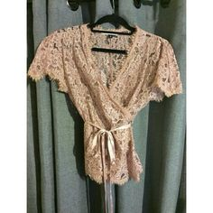 DVF Lace & Silk Wrap Cover 8 of 10 condition. Rose/blush colored.  Authentic Guaranteed.  Fast Shipping. ❤️Thanks for visiting my closet Beauties❤️ Diane von Furstenberg Tops
