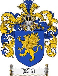 $7.99 Reid Coat of Arms Reid Family Crest Instant Download