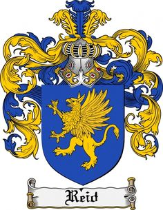 $7.99 Reid Coat of Arms Reid Family Crest Instant Download