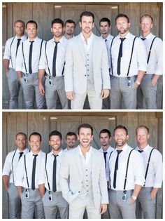 Bride and Chic | Modern Wedding Ideas By Leading UK Wedding Blog // super stylish groomsmen (but with bowties for the groomsmen!!)