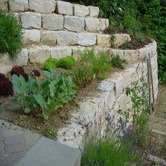 Jura Kalk Mauersteine 12 cm hoch gespalten 20 - 25 cm tief