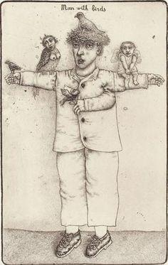 man with birds - oleksiy fedorenko
