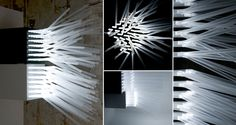 17 Ideas Of How to Reuse Plastic Straws Artistically Lamps & Lights Recycled Plastic Straw Art, Plastic Art, Arts And Crafts Projects, Diy Projects, Recycled Crafts, Reuse, Repurpose, Lamp Light, Lights