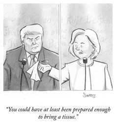 Hillary to Trump: You could have at least been prepared enough to bring a tissue.