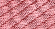 Diagonal Textured knitting pattern. Using knit and purl stitches. Easy to knit.