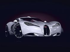 2013 Bugatti Gangloff Concept. The shape of Veyron's to come... it has a giant vagina on its face.