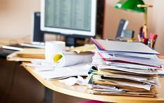 10 Easy Ways to Feng Shui Your Workspace Feng Shui, Messy Desk, Credit Card Statement, Paper Clutter, Declutter Your Home, Tomorrow Will Be Better, Business Photos, Working Area, Getting Organized
