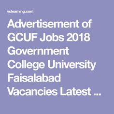 Gcuf result of affiliated colleges 2020
