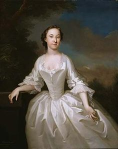 Portrait of Lucy Parry, Wife of Admiral Parry  1745-1749  John Wollaston  Born: London, England  Died: Bath, England  oil on canvas  50 x 40 in. (127.1 x 101.6 cm)  Smithsonian American Art Museum  Museum purchase  1966.56