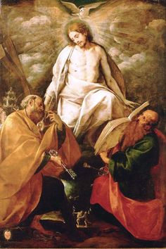 Giovanni Battista Crespi - Il Cerano, was een Italiaans schilder, beelhouwer en architect. Christ Appears to the Apostles Peter and Paul. Catholic Art, Catholic Saints, Roman Catholic, Religious Images, Religious Art, St Peter And Paul, Religion Catolica, Saint Esprit, Jesus Is Lord