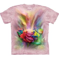 Looking for a new awesome graphic t-shirt? Try the Healing Rose T-Shirt from THE MOUNTAIN on for size! Shop our animal, fantasy, and USA collections and you will find a t-shirt perfect for everyone you know! Rainbow Flowers, Pink Flowers, Flowers Nature, Rose T Shirt, 3d T Shirts, Rose Design, Screen Printing, Classic T Shirts, Unisex