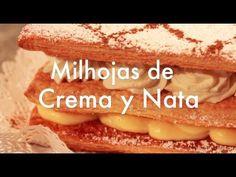 ▶ Milhojas de Crema Pastelera y Nata Montada - Recetas de Postres - YouTube