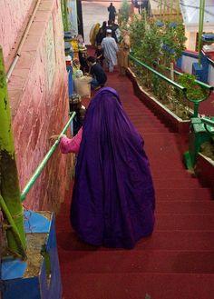 Purple burqa . Pakistan