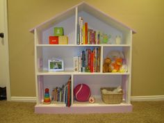 Doll House Bookshelf | Do It Yourself Home Projects from Ana White- Done!