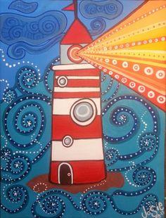 Lighthouse Acrylic on Canvas