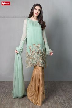 Maria B Suit Sea Green SF-1567 Evening Wear 2017 Price in Pakistan famous brand online shopping, luxury embroidered suit now in buy online & shipping wide nation..
