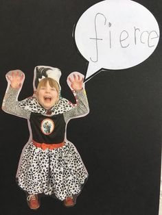 For World Book Day: Children dress up and think of a word to go with the costume. This from the inspirational Hayshead Nursery  in Scotland