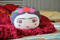 Frida Kahlo mini cushion / pillow / Home decor / nursery / stuffed toy / kids design