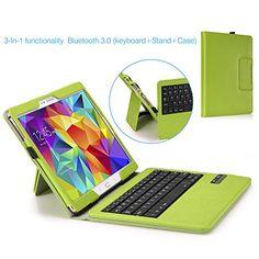 MoKo Samsung Galaxy Tab S 10.5 Keyboard Case - Wireless Bluetooth Keyboard Cover Case for Samsung Galaxy Tab S 10.5 Inch Android Tablet, GREEN (With Smart Cover Auto Wake / Sleep) MoKo http://www.amazon.com/dp/B00K9VYV5A/ref=cm_sw_r_pi_dp_Wilhvb0BRYV44