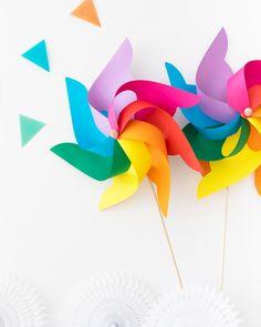 Giant Rainbow Pinwheels | Oh Happy Day!