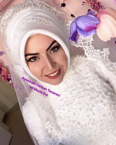 Bridal Hijab, Hijab Bride, Muslim Beauty, Muslim Fashion, Fashion Dresses, Wedding, Instagram, Women, Style
