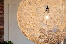 Lampa z szydełkowych serwetek