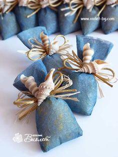 Sea salt aroma bags wedding favors
