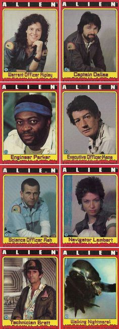 """Alien trading cards, Topps, 1979"" by mike_pants in movies"