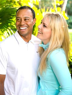 Lindsey Vonn (SKIER), Tiger Woods (GOLF) Confirm They're Dating, Pose for Portrait