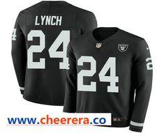 Marshawn Lynch Oakland Raiders Therma Long Sleeve Jersey