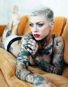 tattoo tattooed girl ink tattoos body adornment