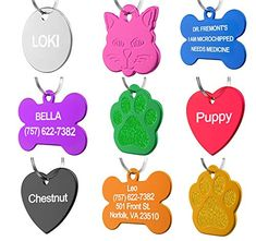 Pet Id Tag Custom For Dog Cat Personalized Many Shapes And Colors To Choose From Made In Usa Strong Anodized Aluminum - Pro Dog Supplies