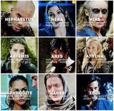 The 100 & Mythology || Lincoln, Abby Griffin, Lexa, Octavia Blake, Bellamy Blake, Clarke Griffin, Raven Reyes, John Murphy, Marcus Kane