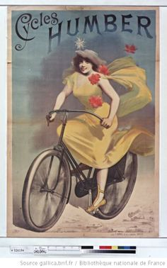Cycles Humber, affiche, 1890, illustrateur: Alfred Choubrac (1853-1902)